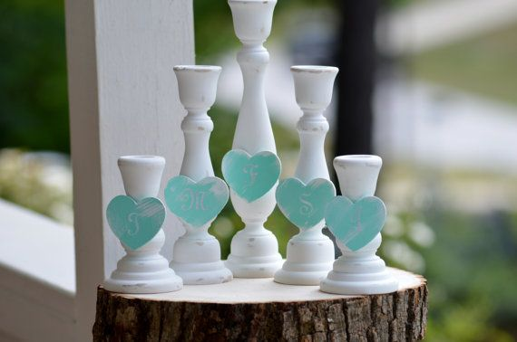 blended family unity candle holders family by RedHeartCreations