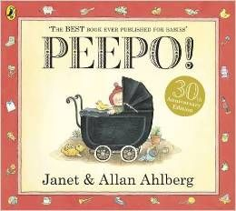 Rs. 200. Peepo - Janet Ahlberg, Allan Ahlberg, Penguin Books, 32 Pages, Paperback. Follow a baby through the day in a style full of wit, charm and ingenuity. A series of holes peeping through to the next page leads the child on to the next stage in the day, giving a hint of what is to come.