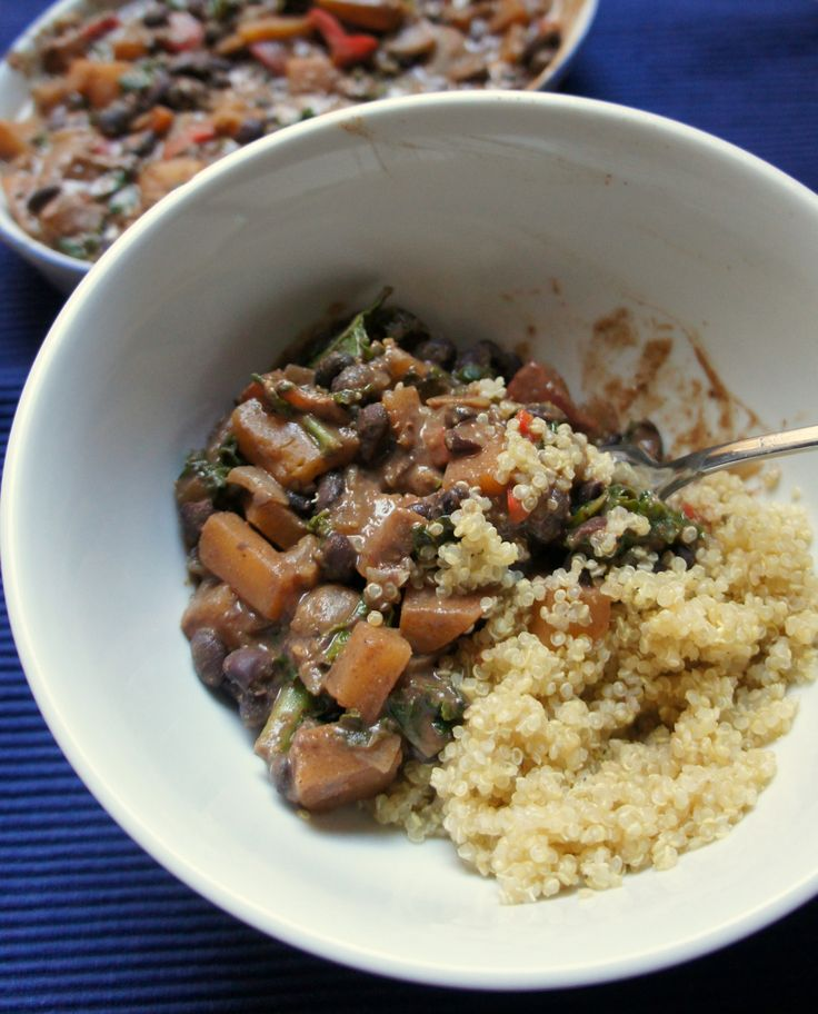 Creamy Black Beans and Rutabaga Stew with Bharat Spice Mix (recipe testing for Ricki Heller)
