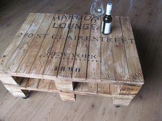 Couchtische - **Design-Tisch aus doppelter Industriepalette** - ein Designerstück von La--Maison bei DaWanda