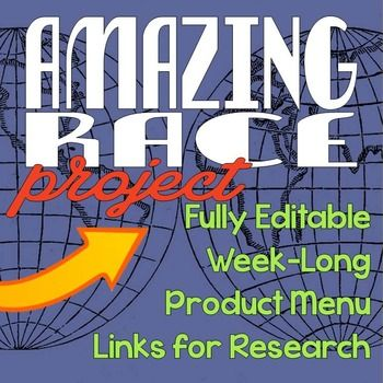 This project is perfect for ending your Middle School Geography or World Cultures class! This project, which can be done in a week's time, offers research, creativity and drawing upon information learned throughout the year. This project is fully editable so you can make it fit your classroom needs!
