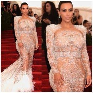 Welcome to Elizabeth Aluko's Blog: Mrs Kim K West Wore Roberto Caverlli Sheer Dress t...