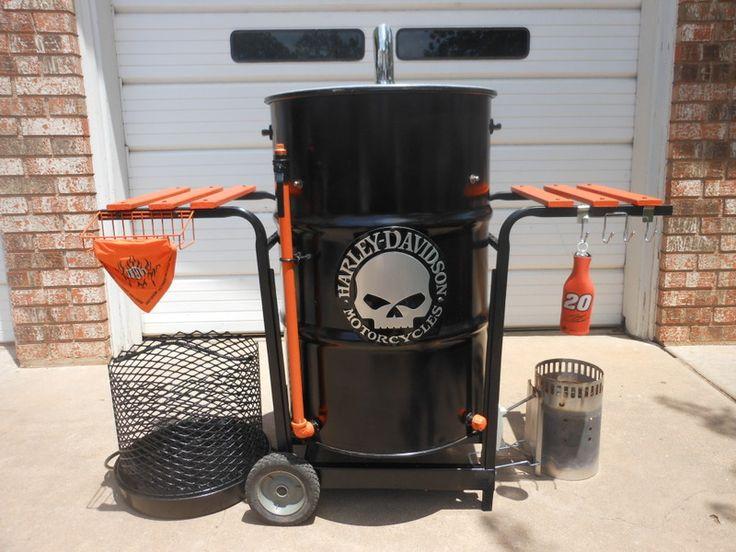 harley davidson barrel tables | Ugly Drum Smoker Harley Davidson Theme