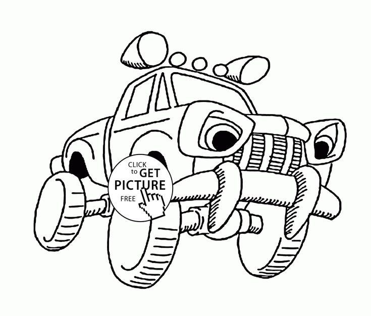 Little Monster Truck Coloring Page For Kids Transportation