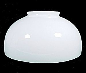 White Milk Glass 14 Quot Dome Hanging Or Table Oil Lamp Shade