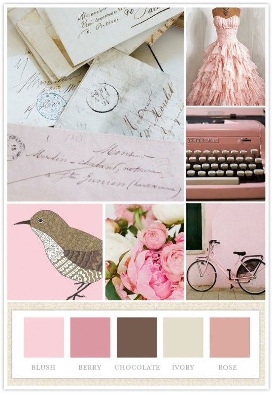 Beautiful color scheme and vintage style - I would love to do a guest room in this style!