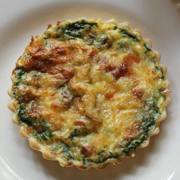 Quiche With Bacon Spinach And Mozzarella This individual quiche recipe is a result of my obsession with these mini tart pans. This quiche recipe is perfect for breakfast, brunch, or lunch, and they offer a beautiful presentation. These would be delicious served with avocado slices, a simple mixed greens salad, and some fruit. Coffee and a mimosa are fitting companions as well! Another bonus is that they freeze well!