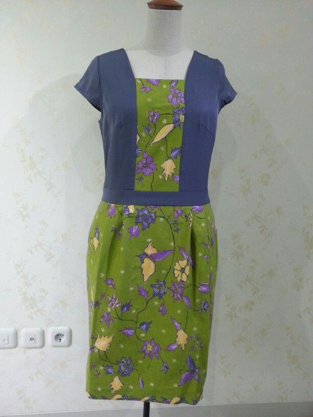 Batari dress made from batik tulis Cirebon and cotton jacquard. Made by Dongengan (Facebook: https://m.facebook.com/dongengan)