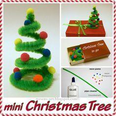 DIY Mini Weihnachtsbaum, tolle Idee. / DIY mini Christmas tree, great idea