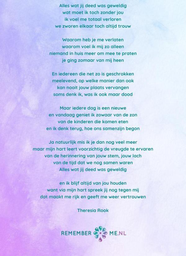 Lees Gedichten Over Rouw En Verlies Gedichten Begrafenis
