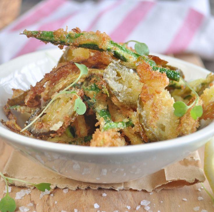 Fried jalapeno strips