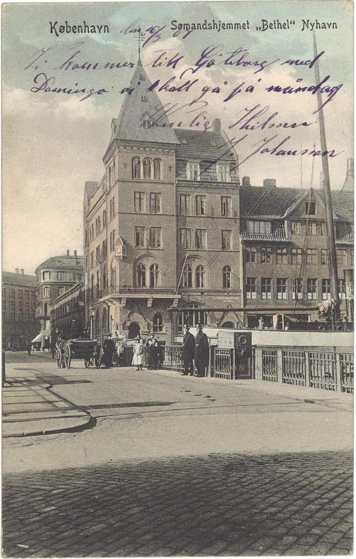 Sømandshjemmet Bethel. Postkort stemplet 1907. Her arbejdede min farmor, Amanda Bondesson, ca. 1910, da hun var kommet til København.