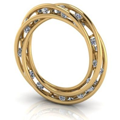 Jesper VellingSCATTERED DIAMOND TWIST RING