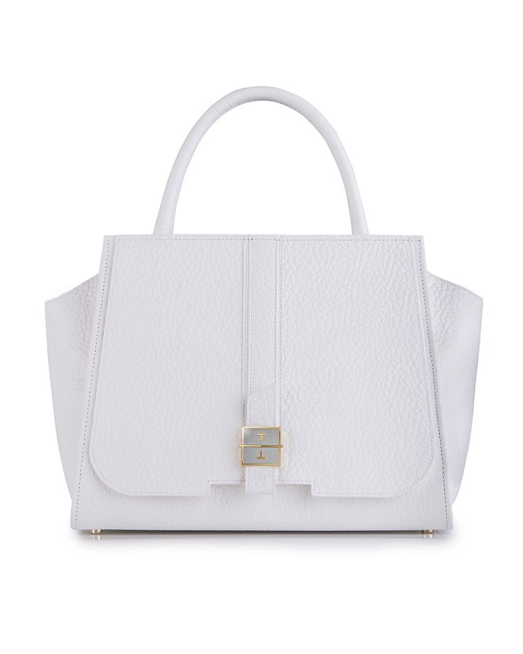 MELIA leather handbag in Bone White by TANCHEL