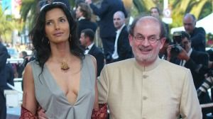 Salman Rushdie arrives with Padma Lakshmi at the 57th Film Festival in Cannes in 2004.