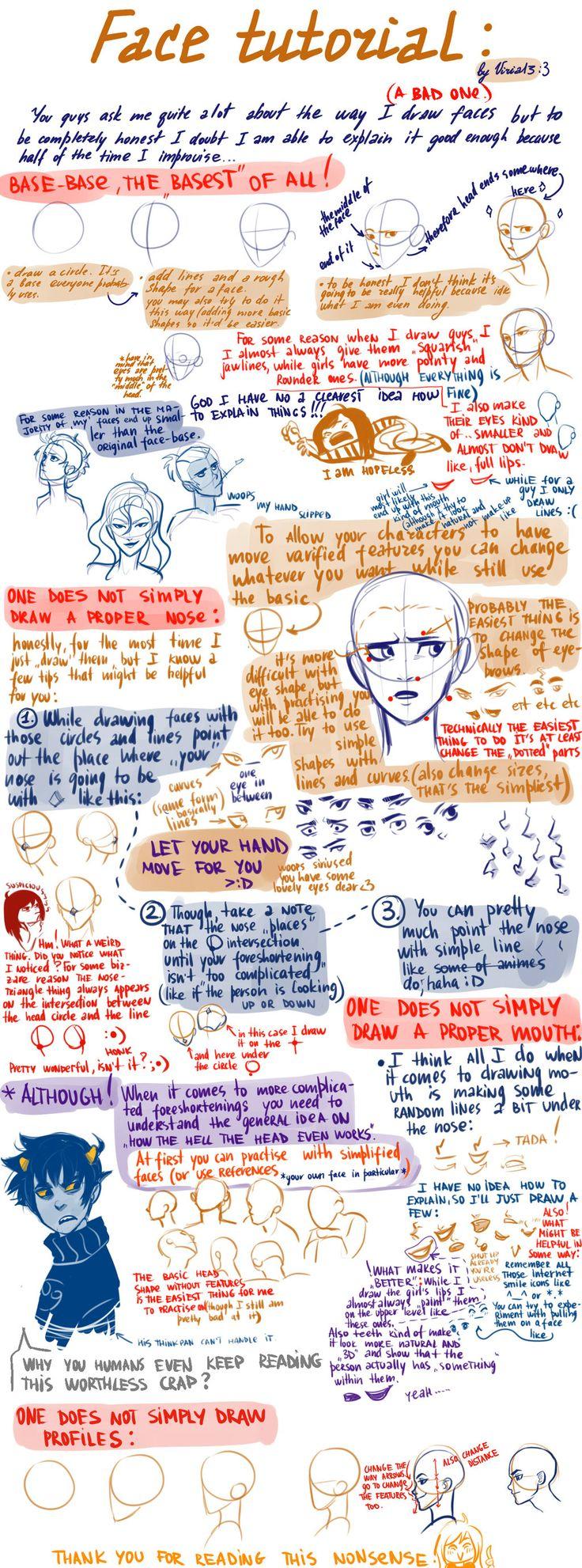 a very bad face tutorial by viria13.deviantart.com on @deviantART