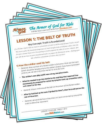 Free Armor Of God Bible Lessons For Kids Gotta Have Faith Bible