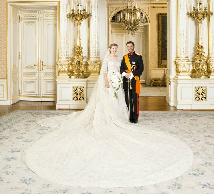 Official Portrait Of The Royal Wedding Hereditary Grand Duke Guillaume Luxembourg