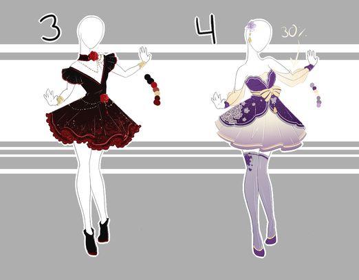 .::Adoptable Collection 6(1-2, 4-5 OPEN)::. by Scarlett-Knight.deviantart.com on @DeviantArt
