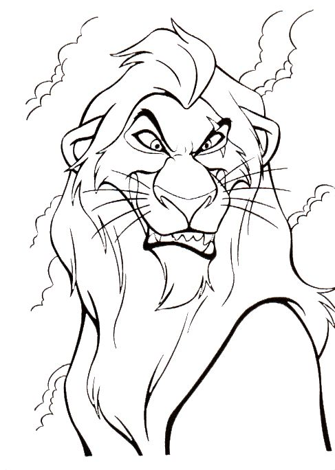 The Lion King Coloring Pages 6 487x