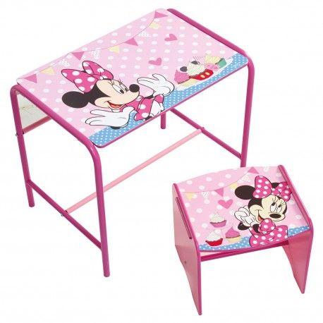 Worlds Apart 472MIZ - SET MESA Y TABURETE DE MADERA - Minnie Mouse