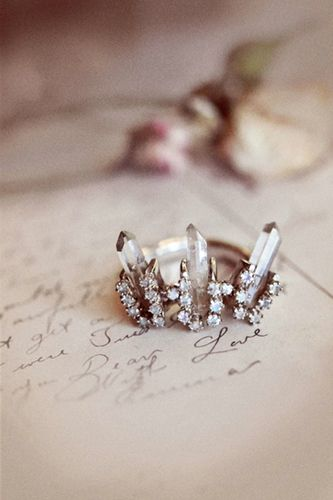 pretty crystal ring