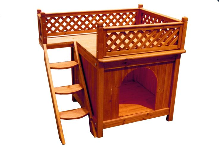 Dog Bed with Steps for indoor or outdoor use All weather - re stain as needed Wooden bed for cats and small dogs