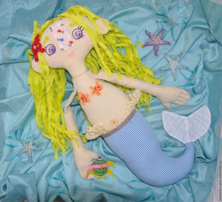 Купить Русалка Малышка Мира - комбинированный, русалка, русалочка, малышка, кукла, Ариэль, хвост, море