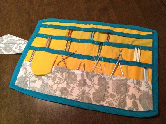 Knitting Needle Case Organizer Needle Holder by WeigelCraftCorner