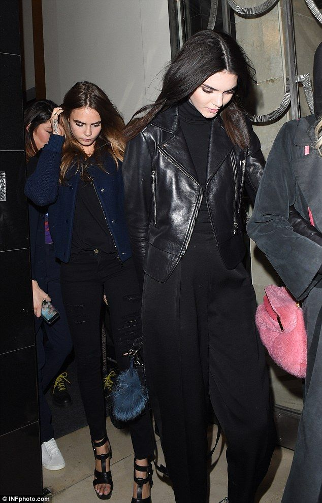 Model mayhem: Kendall Jenner and Cara Delevingne enjoy a night out on the town in London