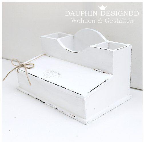 Kisten & Boxen - Utensilo Schreibtischutensilo Shabby Vintage Art - ein…