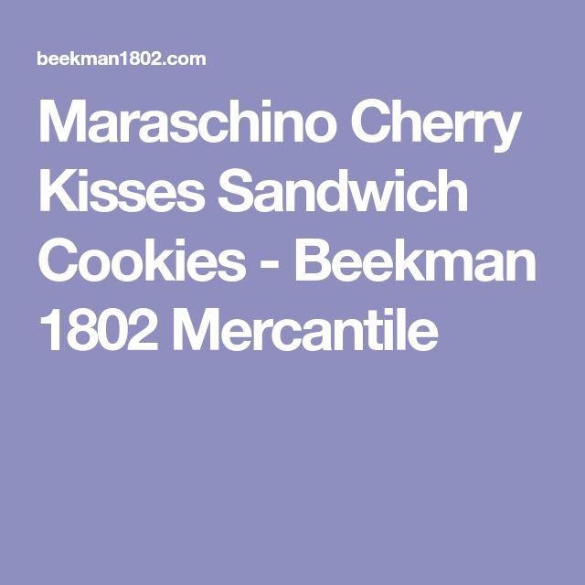 Maraschino Cherry Kisses Sandwich Cookies - Beekman 1802 Mercantile