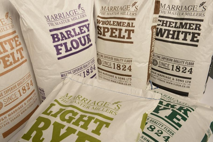 Our new artisan flour range - Light Rye, Dark Rye, White Spelt, Wholemeal Spelt, Barley and Chelmer White. The new look packaging was designed by the team at Spring in Southwold http://www.springagency.co.uk
