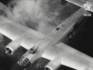 B-24 being shot down by anti-aircraft fire - Imgur