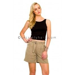 AMELIUS Caitlyn Shorts in Taupe