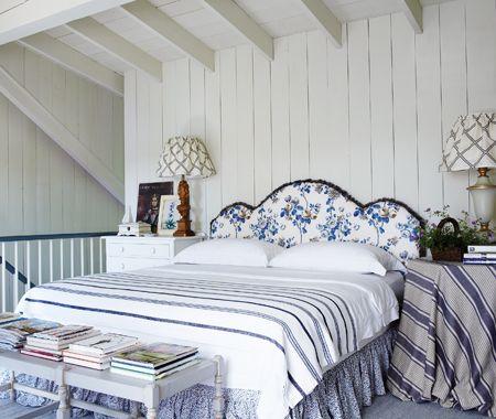 Pretty Blue & White Bedroom