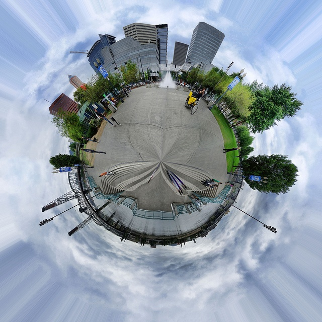 Little Planet at the Fountain