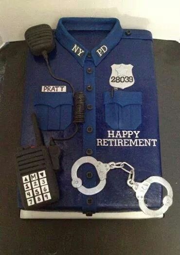 Police retirement.cake