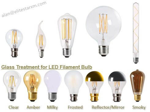 Full LED Filament Range including GLS bulbs, varied Candles, Global, Tubes, and Edison shapes. More optional glass finish: clear/amber/milky/frosted/reflector/smoky. Lamp Holder/Base: E27/E14/B22/B15/E40/E10.  decorative lighting for Scandinavian style lighting fixture, widely used in home, cafe, bar, hotel