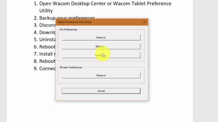 002 - Maunual Uninstall/Install Wacom Driver on PC