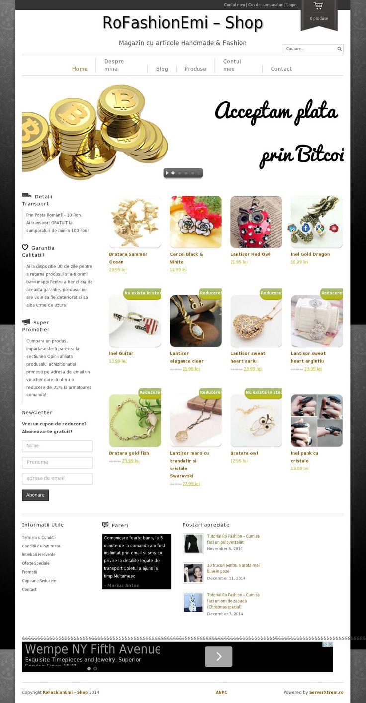 Cumpara bijuterii handmade si cu plata in Bitcoin! www.RoFashionEmi.ro