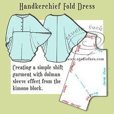 Self Draft Pattern | Handkerchief Fold Dress