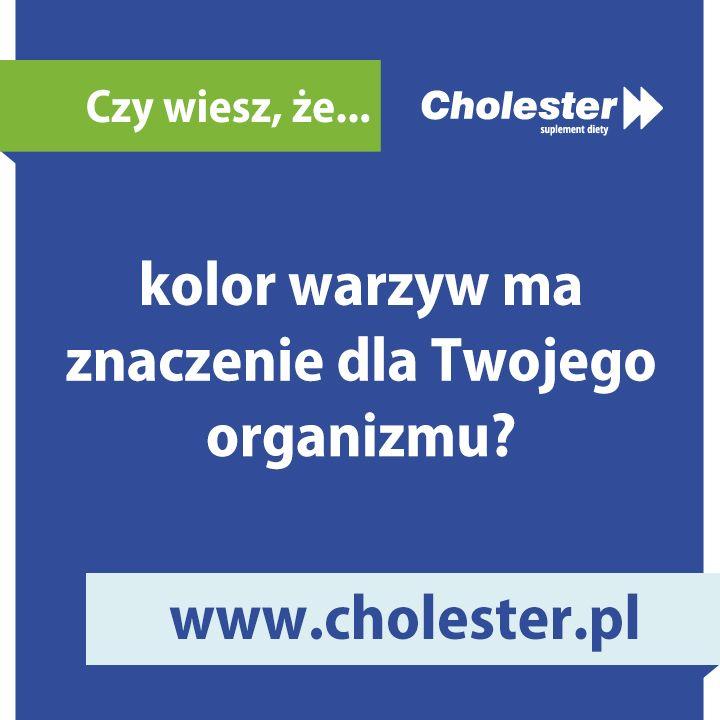 Zielone warzywa i owoce są niskokaloryczne i bogate w błonnik. Czerwony kolor roślin może sugerować, że są dobre dla serca i dla układu krążenia.  Więcej dowiecie się tu: http://www.cholester.pl/blog/owoce-warzywa-kolory-na-zdrowie.html  #cholester #warzywa #dieta #zdrowie