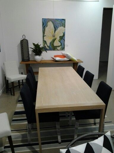 RZID SALT dining table at Chloe &  Grace (Serengeti) Noosaville