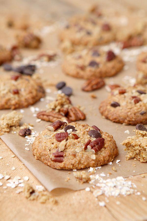 Cookies de avena, pacanas y chocolate