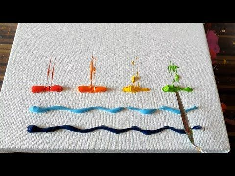 Cute and Simple / Sailboats / Abstract Painting Demonstration / Daily Art …