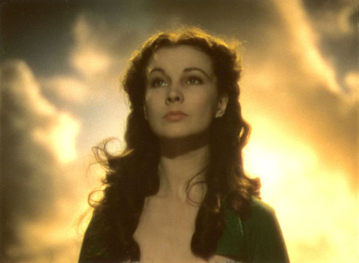 Scarlett O'Hara (Vivien Leigh) in Gone With the Wind. http://drnorth.wordpress.com/2011/01/04/fragment-16-hedda-hopper-on-the-casting-of-vivian-leigh-as-scarlett-ohara-in-gone-with-the-wind/