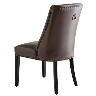 Corinne Brown Dining Chair with Black Espresso Wood