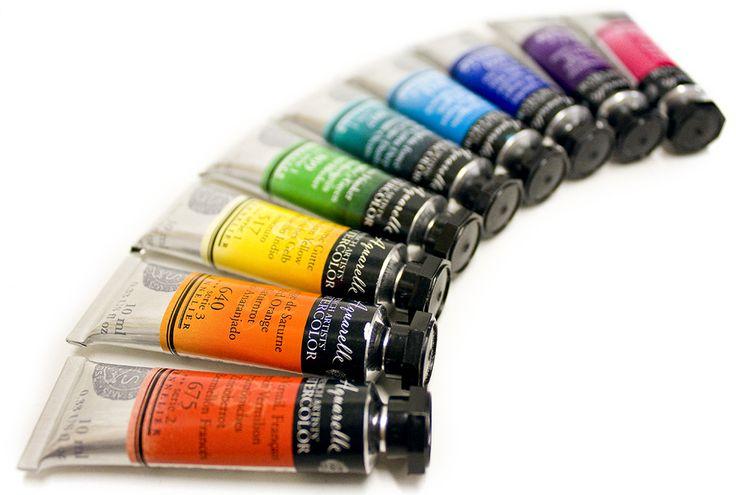 Sennelier L'Aquarelle Honey Based Watercolours. Smooth, bright, lively colours! #sennelier #watercolour #paint #artsupplies