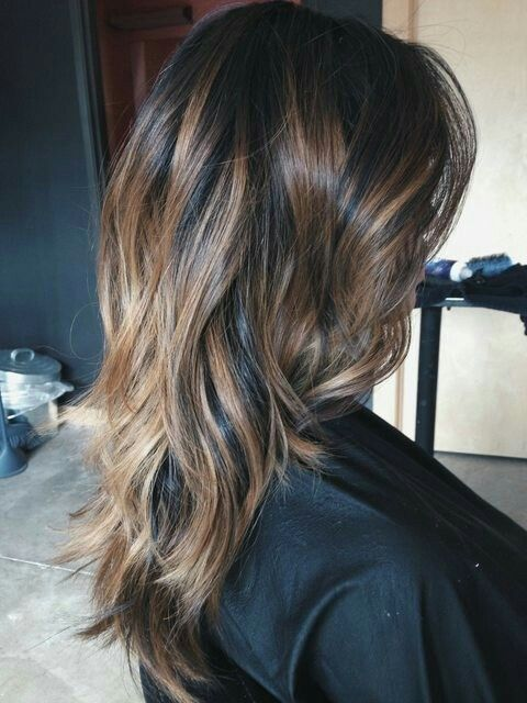 Balayage Highlights Asian Hair